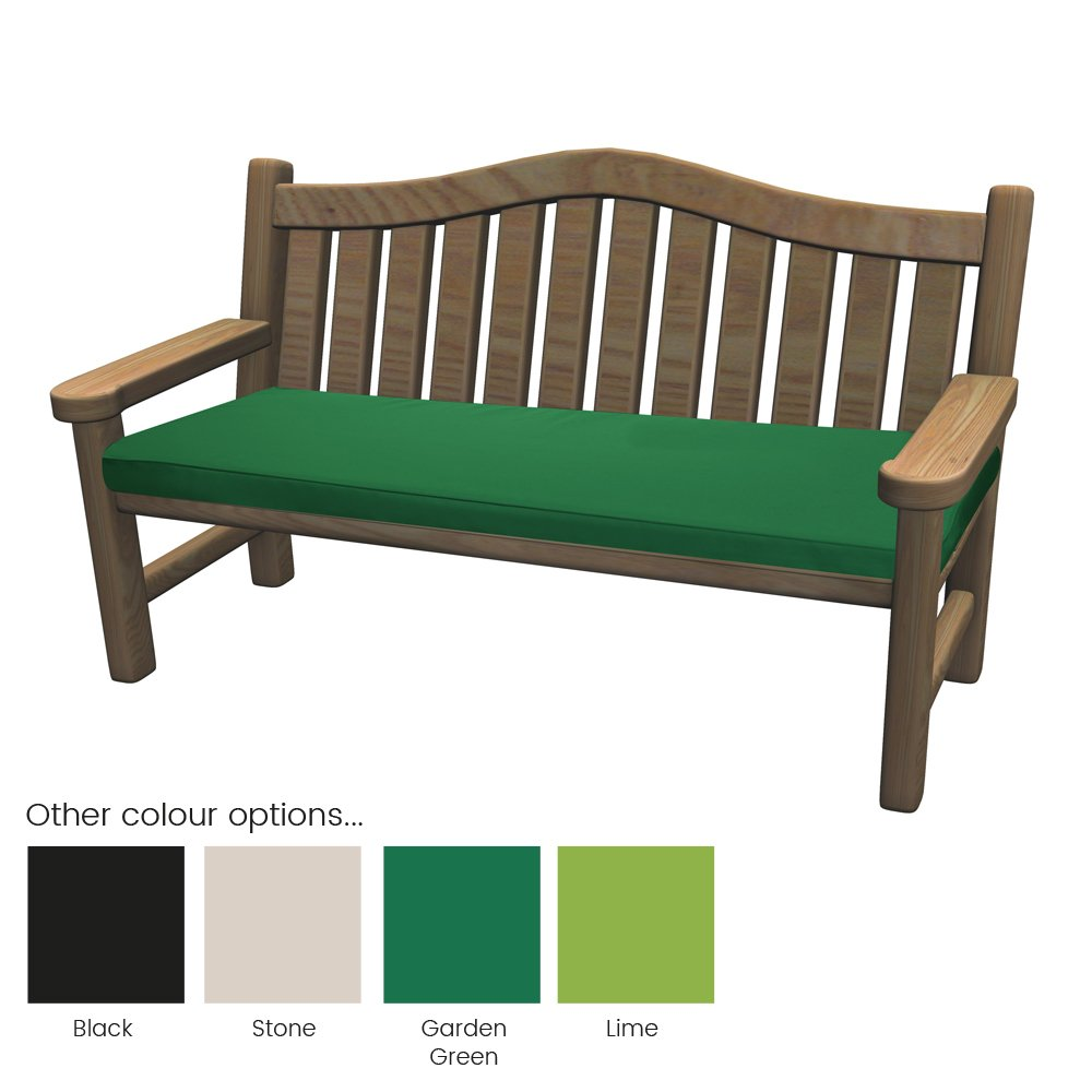 Outdoor Bench Pad Cushions   Fibre Filled Cushions For Benches   Colourful  Water Resistant Garden Bench Pads By PEBBLE® (128x50x5cm, Green):  Amazon.co.uk: ... Part 89