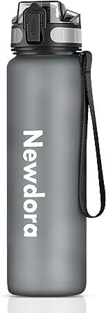 Newdora 1000ml Bottiglia Acqua-Borraccia Bici 100% a Prova di