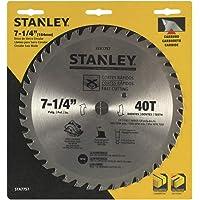 "Stanley STA7747, Lâmina de Serra Circular 140T, Amarelo/Preto, 7-1/4"""