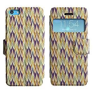 LEOCASE patrón increíble Funda Carcasa Cuero Tapa Case Para Apple iPhone 5C No.1005248
