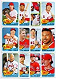 Los Angeles Angels of Anaheim 2014 Topps Heritage Baseball Complete Mint 12 Basic Card Team Set with Mike Trout Albert Pujols Plus