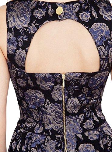 Closet shored Itch Jacquard Cut Out Back vestido XS de S negro
