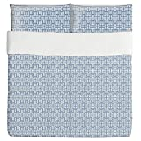 Africa Blues Duvet Bed Set 3 Piece Set Duvet Cover - 2 Pillow Shams - Luxury Microfiber, Soft, Breathable