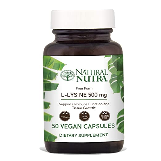 Natural Nutra L Lysine HCl Vegan Supplement