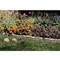 Stone-like Resin Constructed Garden Border Edging Rendered in Taupe-grey, 1 Box - Includes 10 Pcs. (12 Inches Each) Per Box