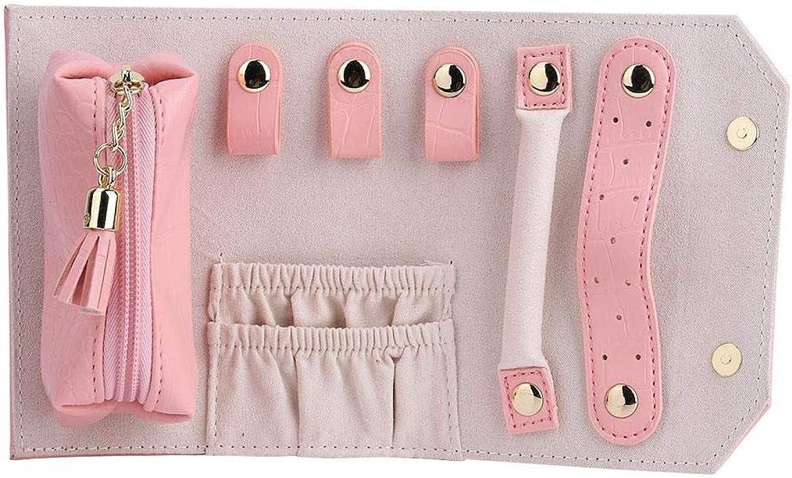 Bolsa de Joya de Rollo de Joya,Estuche Organizador de joyería para múltiples Collares, Anillos - portátil y práctico: Amazon.es: Joyería