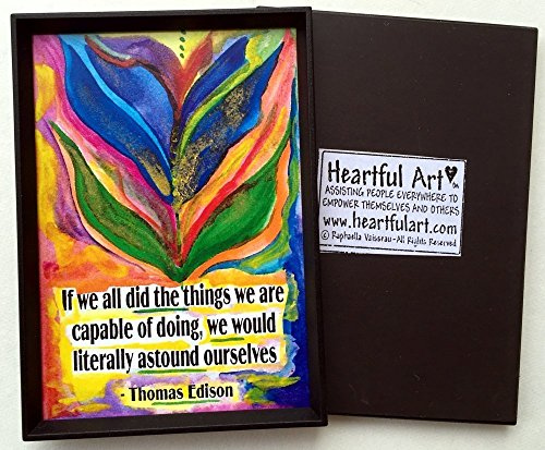 If we all did the things we are capable of 2x3 Thomas Edison magnet - Heartful Art by Raphaella Vaisseau