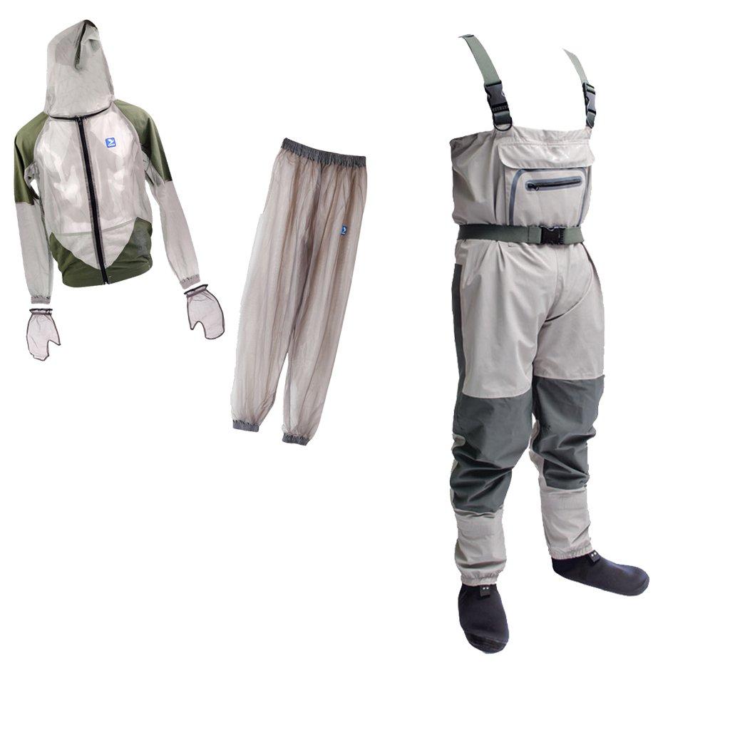 定番 monkeyjack軽量ラバー釣りWader通気性Chest Wader For Fly Fishing BeeバグClothing + anti-mosquito B0744P8RR7 BeeバグClothing Fly Suitシンフード付きアウトドアワイルド釣り布L B0744P8RR7, ものうりばPlantz:00feabe0 --- a0267596.xsph.ru