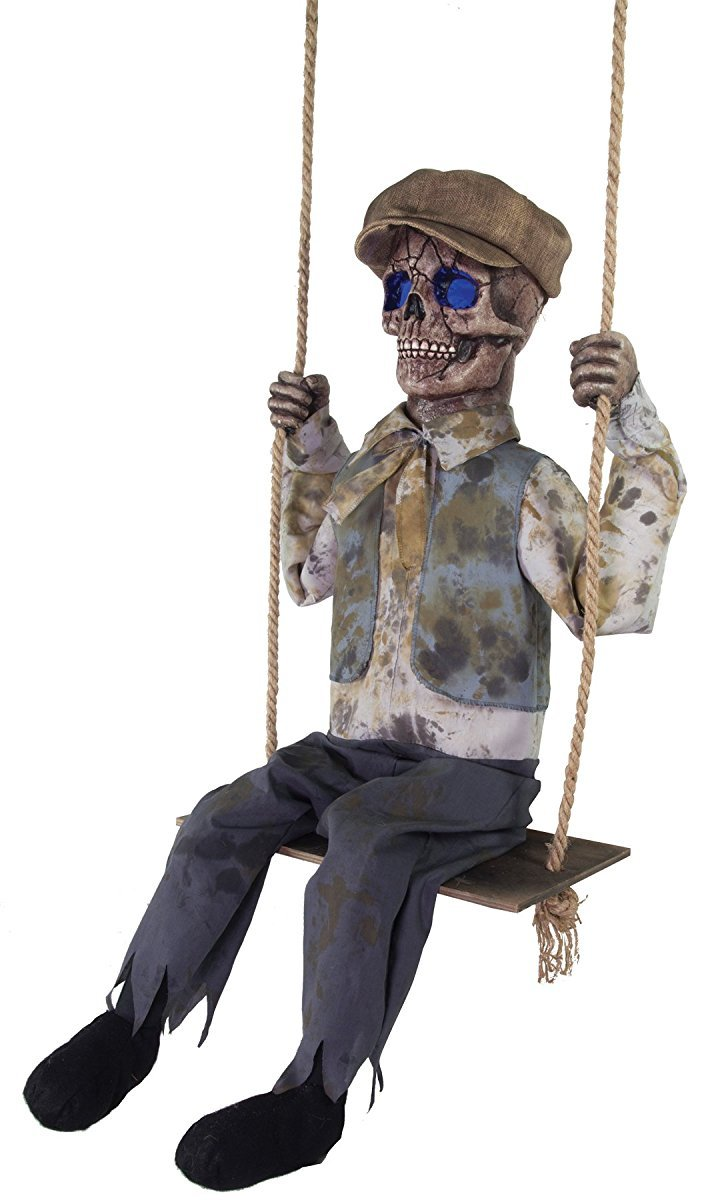 Swinging Skeletal Boy Halloween Prop