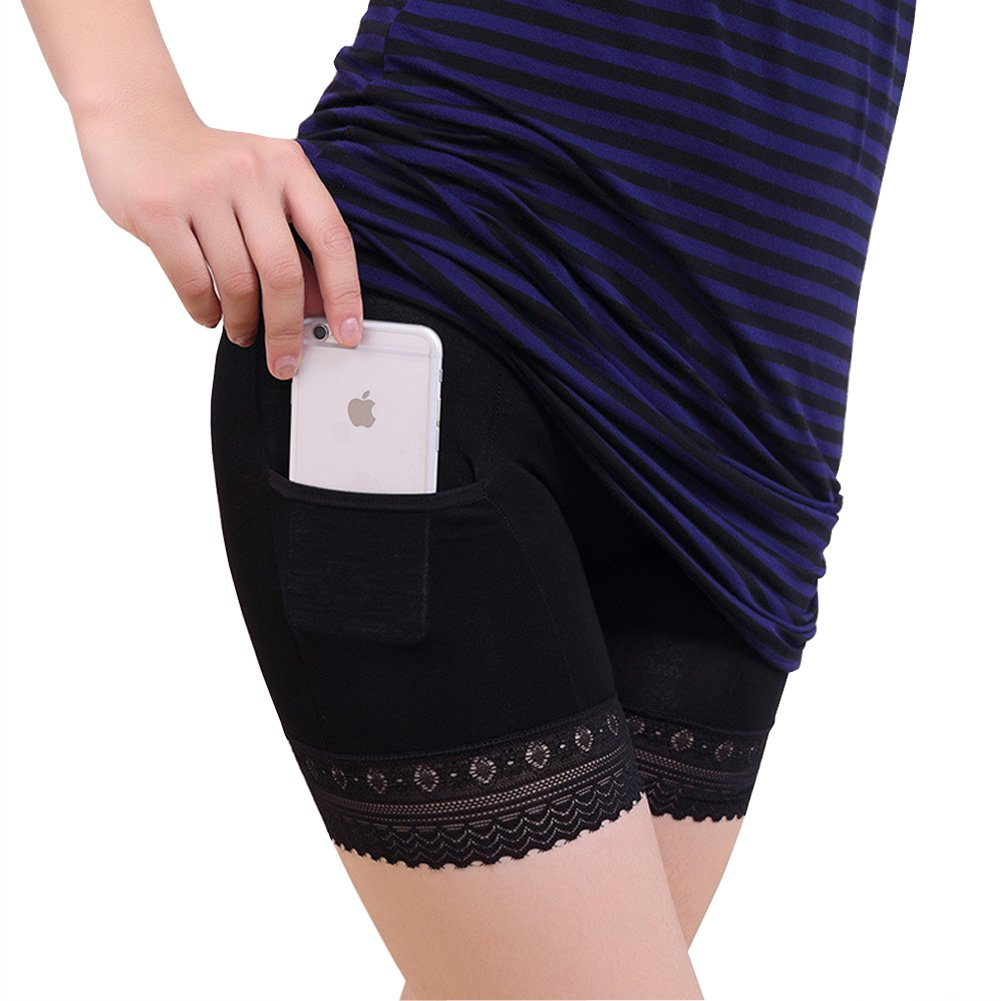 HNYG Women's Safety Pants 3 Pieces Underware Shorts with Pocket A460
