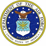 usaf decals - 4 Pack US Air Force USAF United States Patriotic USA Military Emblem Auto Decal Bumper Sticker Vinyl Decal For Car Truck Van RV SUV Boat Fighter Jet Window Support USA Military (Emblem)