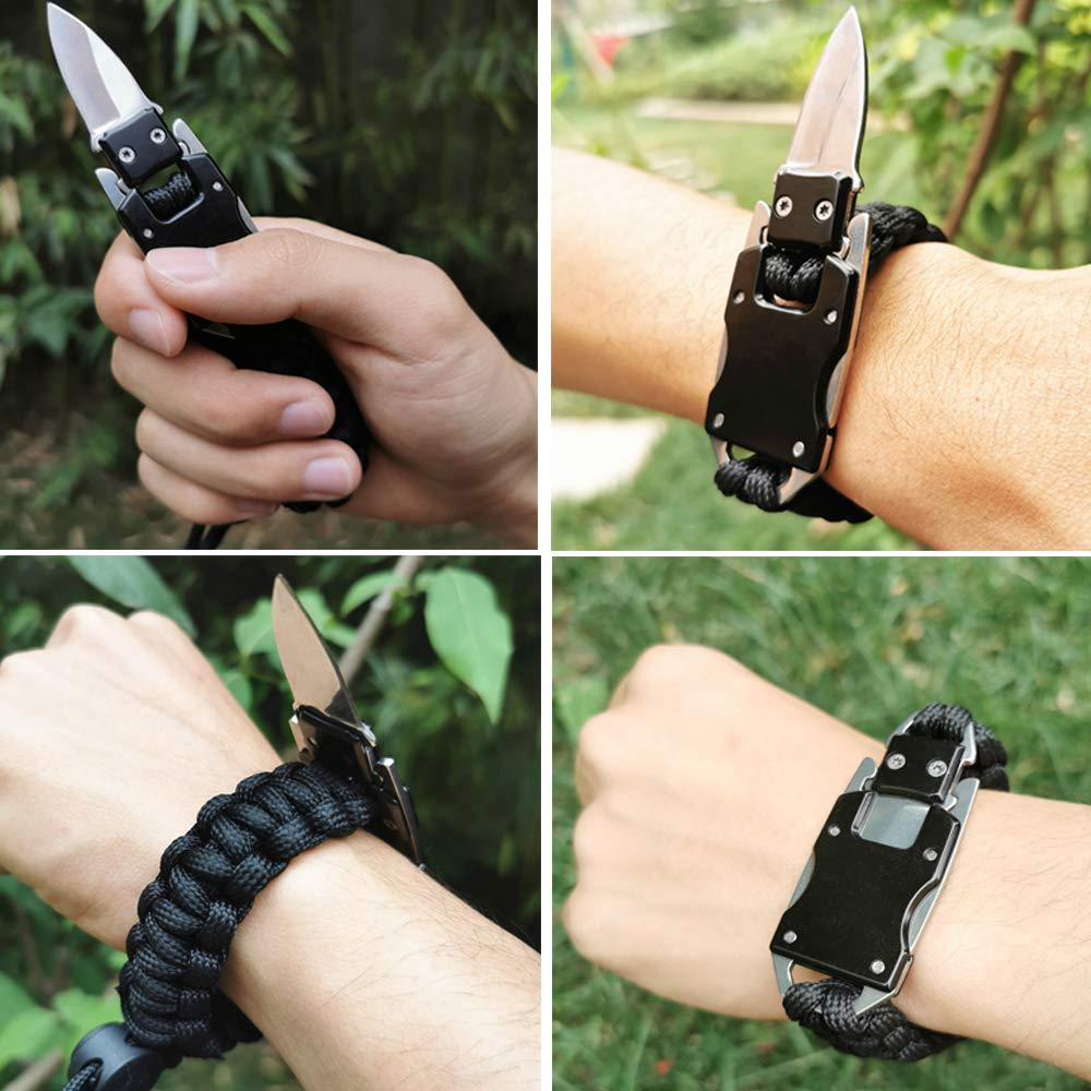 WEREWOLVES Paracord Survival Bracelet for Hiking Camping Or Daily Life, EDC Professional Tactical Bracelet Adjustable Length, The Ultimate Personal Survival Gear for Outdoor Adventure Lovers
