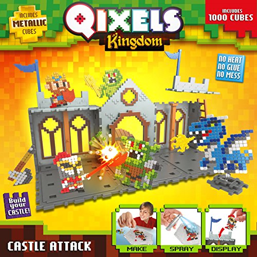 Qixels 87028 Kingdom Castle Attack Playset: Amazon.co.uk: Toys & Games