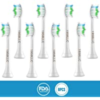 8-Pack 1958LLC Standard Toothbrushes Replacement Heads for Philips Sonicare e-Series HX-Series