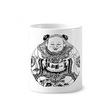 DIYthinker Cultura china línea de la dinastía Qing Dibujo Cepillo de dientes titular de la taza