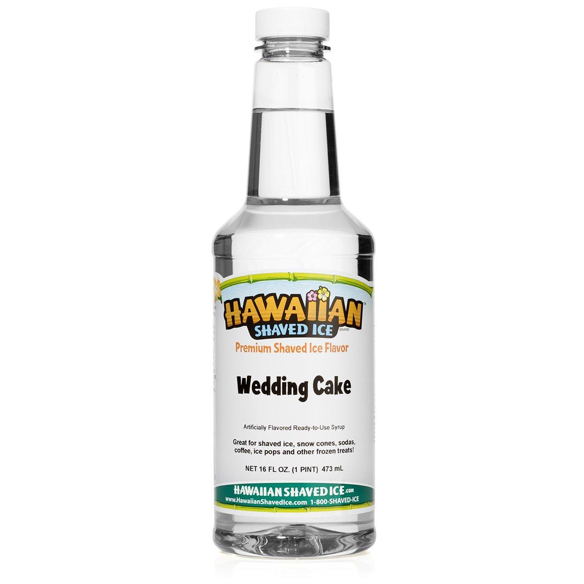 Hawaiian Shaved Ice Wedding Cake Snow Cone Syrup, 1 Pint