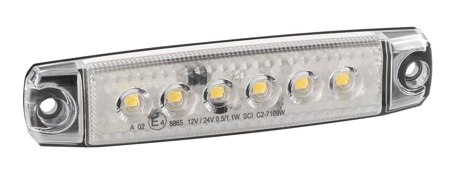 LAMPA 97007 Luce Ingombro 6 LED 12/24V F-17, Bianco