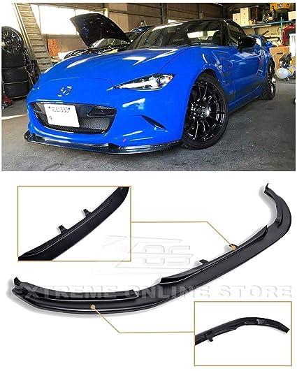 Extreme Online Store for 15-Up Mazda Miata MX-5 ND JDM Leg Sport Style  Fiberglass Primer Black Front Bumper Lower Lip Splitter