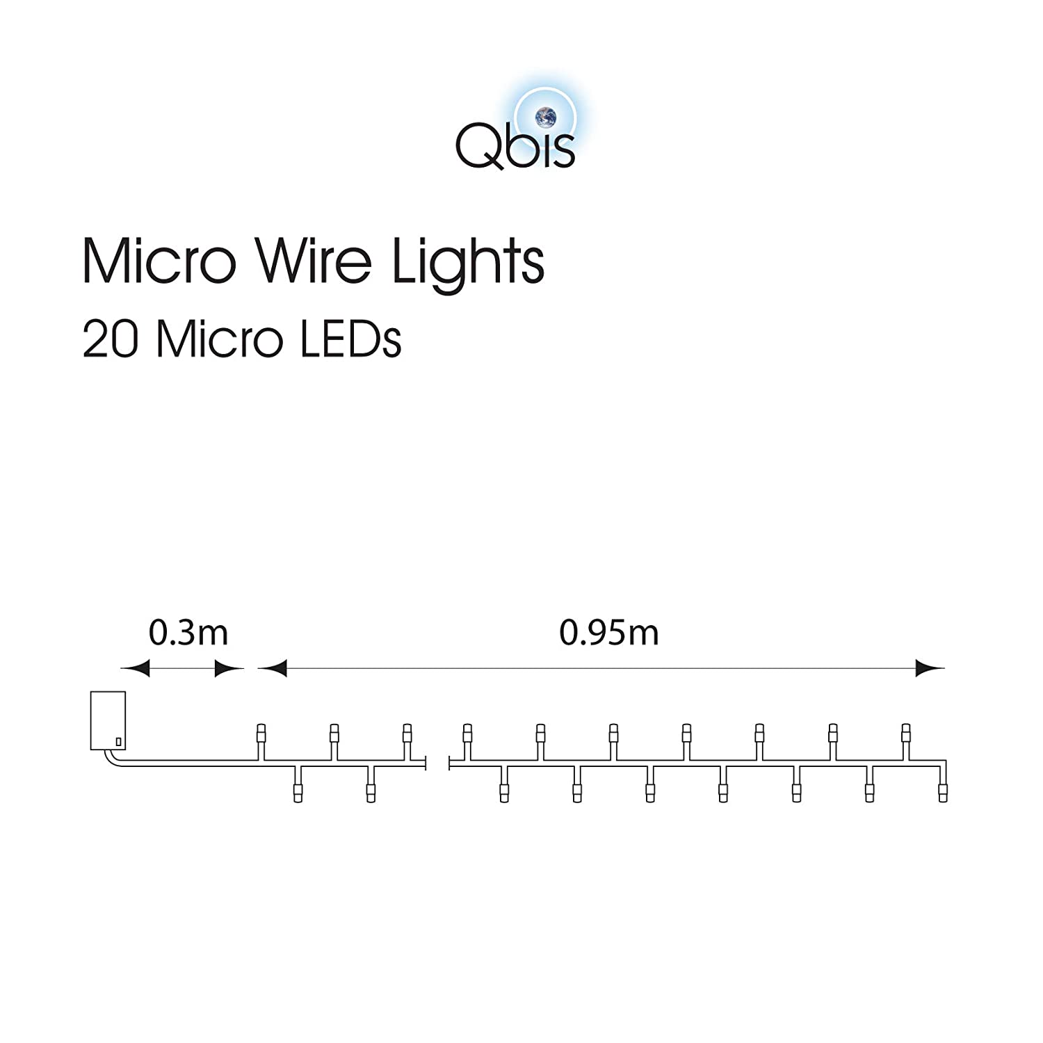 Battery Operated Fairy Lights Micro Warm White Leds Wire Wiring Diagram For Led Wrap Around Light Fixture With Timer Mode By Qbis 20 Lighting