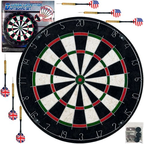 Classic Bristle Dartboard Set with 6 Darts by Trademark Global