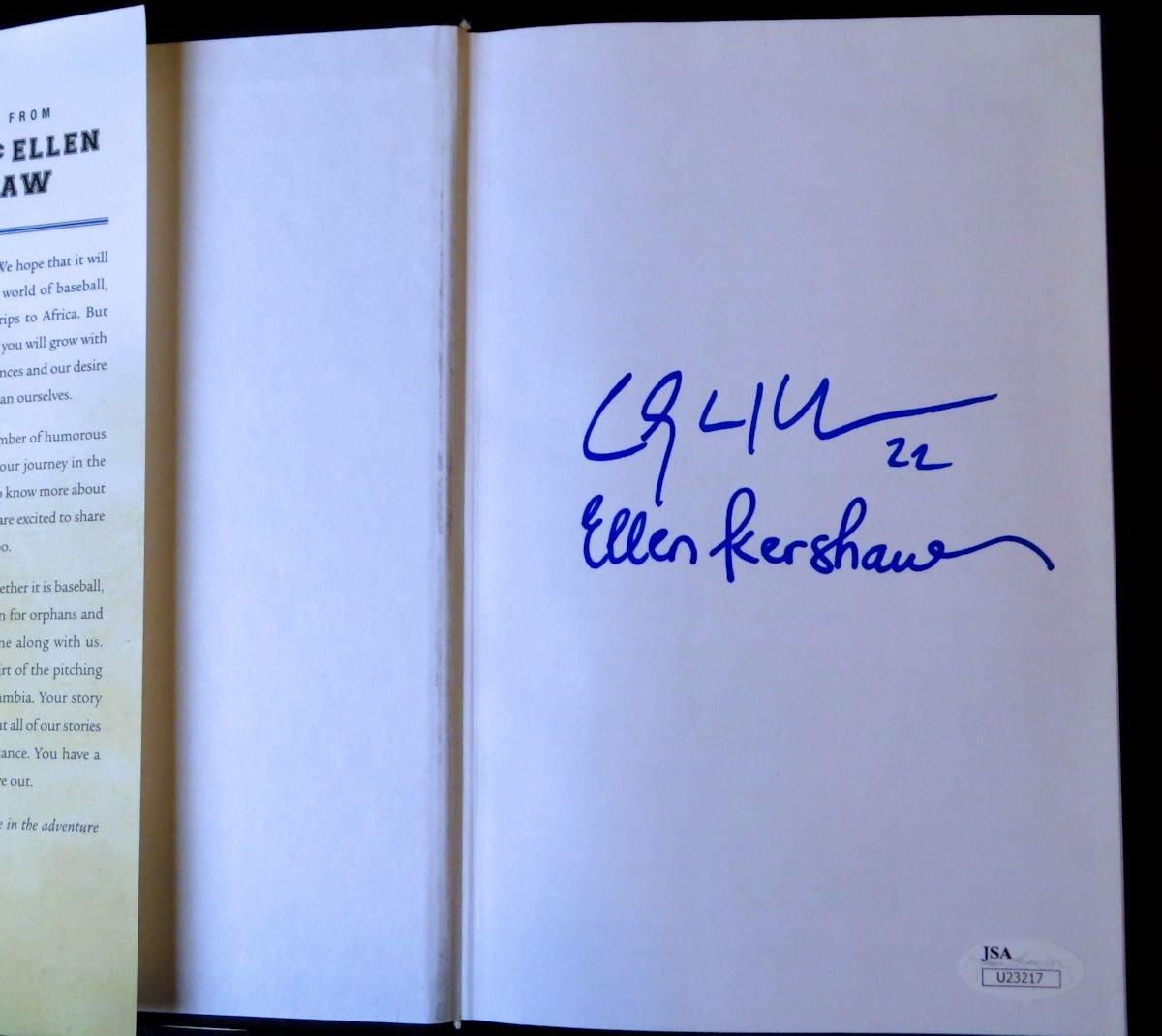 "Clayton & Ellen Kershaw Dual Signed Autographed Book ""Arise"" Dodgers JSA U23217"