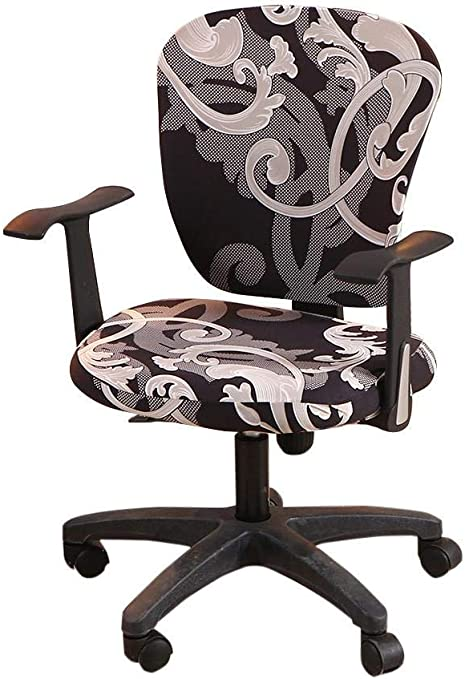 Baiancy Spandex Computer Office Chair Cover Stretchable Rotate Swivel Chair Covers