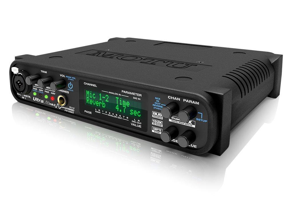 MOTU UltraLite mk3 Hybrid 10イン14アウト Firewire / USB2 オーディオ / MIDIインターフェイス B003KMI0ZC