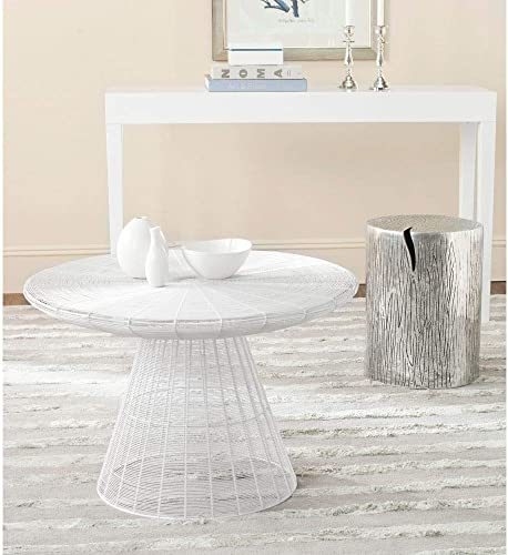 Safavieh Home Collection Reginald White Wire Coffee Table