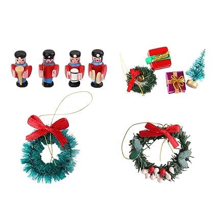 Amazon.com  MonkeyJack 1 12 Dollhouse Miniature Accessories Christmas Tree  Wreath Band Figurine for Dolls House Decor Ornaments  Toys   Games e83a4f7ab4d1