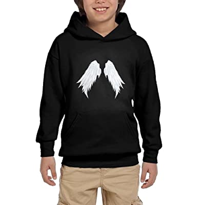 Angel Wing Loose Youth Pullover Hoodies Athletic Pockets Sweatshirts