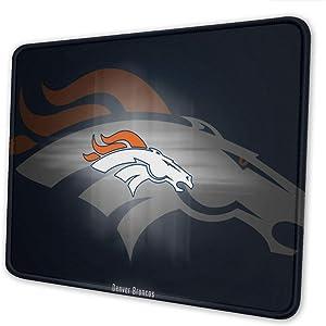 ZKHAKLG Denver Broncos Mouse Pads, Unique Design, Gaming Mouse Pads for Desktop laptops, Thick Non-Slip Rubber Mouse Neutral Mouse pad