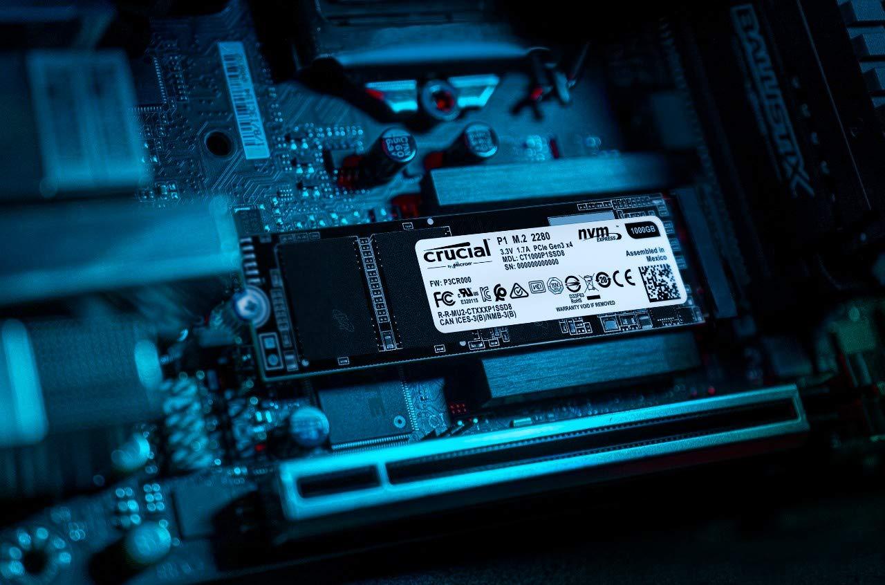 Crucial P1 1TB 3D NAND NVMe PCIe M 2 SSD - CT1000P1SSD8
