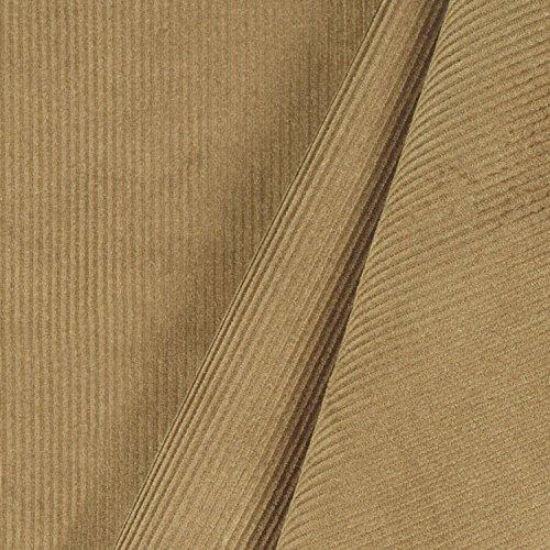 British Khaki 11 Wale Corduroy Fabric - By the ()