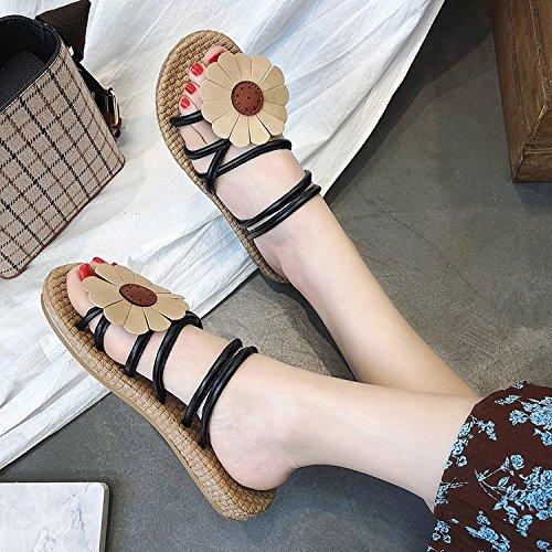 ropa cómodos white de sandalias zapatos dos verano RUGAI playa Sandalias de verano de UE wq74fX