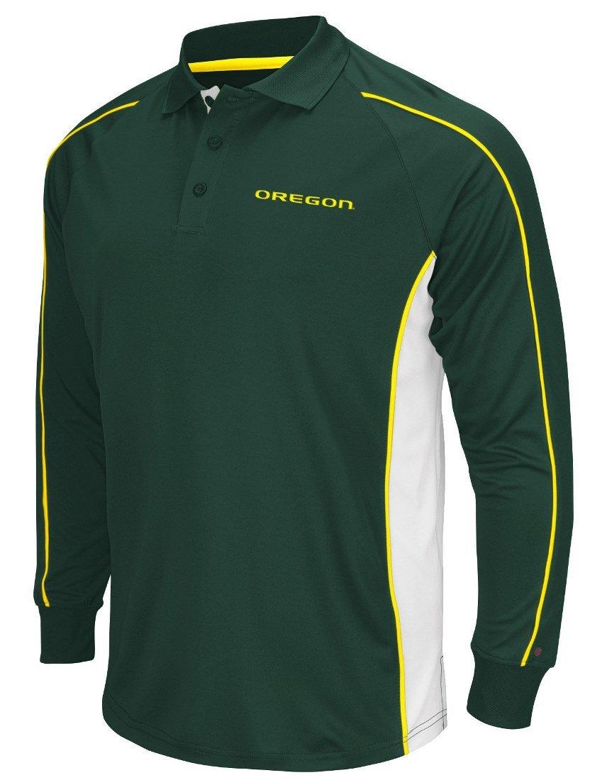 """Oregon Ducks NCAA Men's """"Overtime"""" Long Sleeve Polo Shirt Colosseum"""