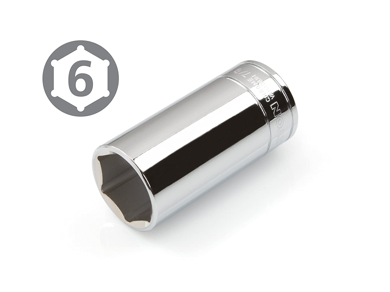 Cr-V 6-Point TEKTON 14186 3//8-Inch Drive by 7//8-Inch Deep Socket