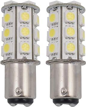 50X White 1156 BA15S 13 SMD 5050 LED Light bulbs Turn Signal Backup Reverse 12V