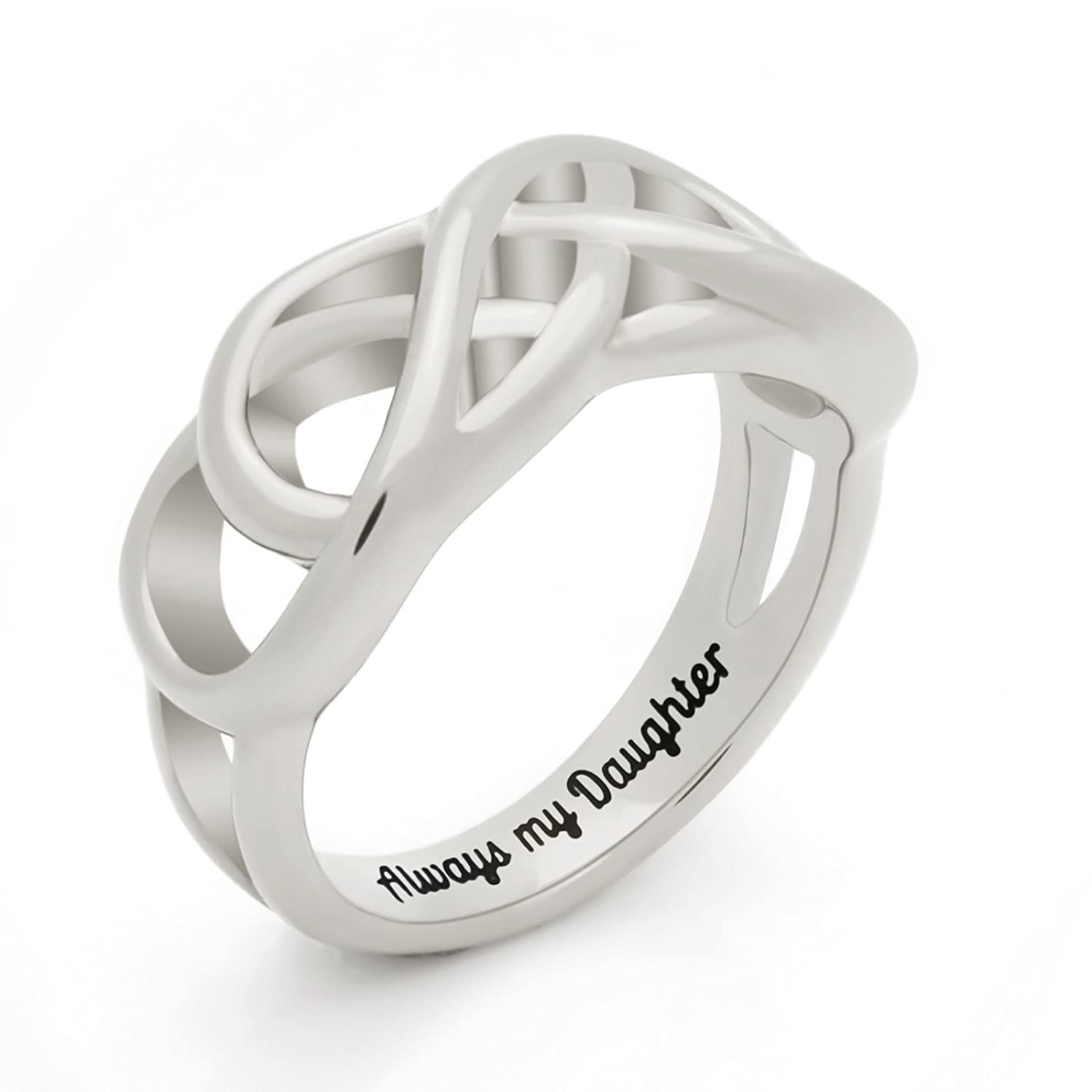 double infinity engagement gold diamond mounting in ring product white