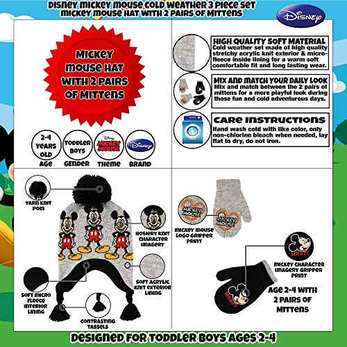 dccc3b1d330 הקלק למוצרים נוספים של דיסני שנשלחים לישראל. מידה   Age 2-4 Hat   2 Pair Mittens  Set