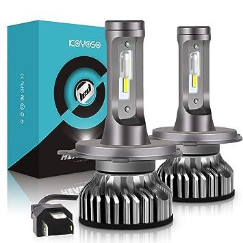 Bombilla H4 LED Coche, 10000LM Faros Delanteros Bombillas para Moto, Reemplazo de la Luz Halógena, 12V-24V, Xenon Blanco 6000K, 2 Lámparas: Amazon.es: Coche ...