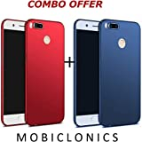 Mobiclonics® Soft Rubberised Matte Finish Case Cover for Xiaomi Redimi Mi A1[Launched In September 2017]-[Blue+Red]