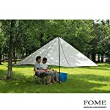 Camping Sun Shelter,FOME SPORTS|OUTDOORS Multipurpose Portable Pentagon Outdoor Awning Sunshade Sun Shelter Rain Survival Tarp Ultralight Waterproof Sunproof for Camping Beach One Year Warranty