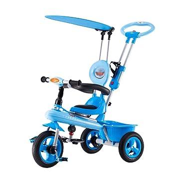 Niños triciclo, Pedal Carritos 1-2-3-5 años de edad bebé Rueda inflable gratis Bicicleta infantil (Color : Verde) : Amazon.es: Deportes y aire libre