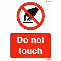 Caledonia signos 23405e do not Touch Sign, vinilo