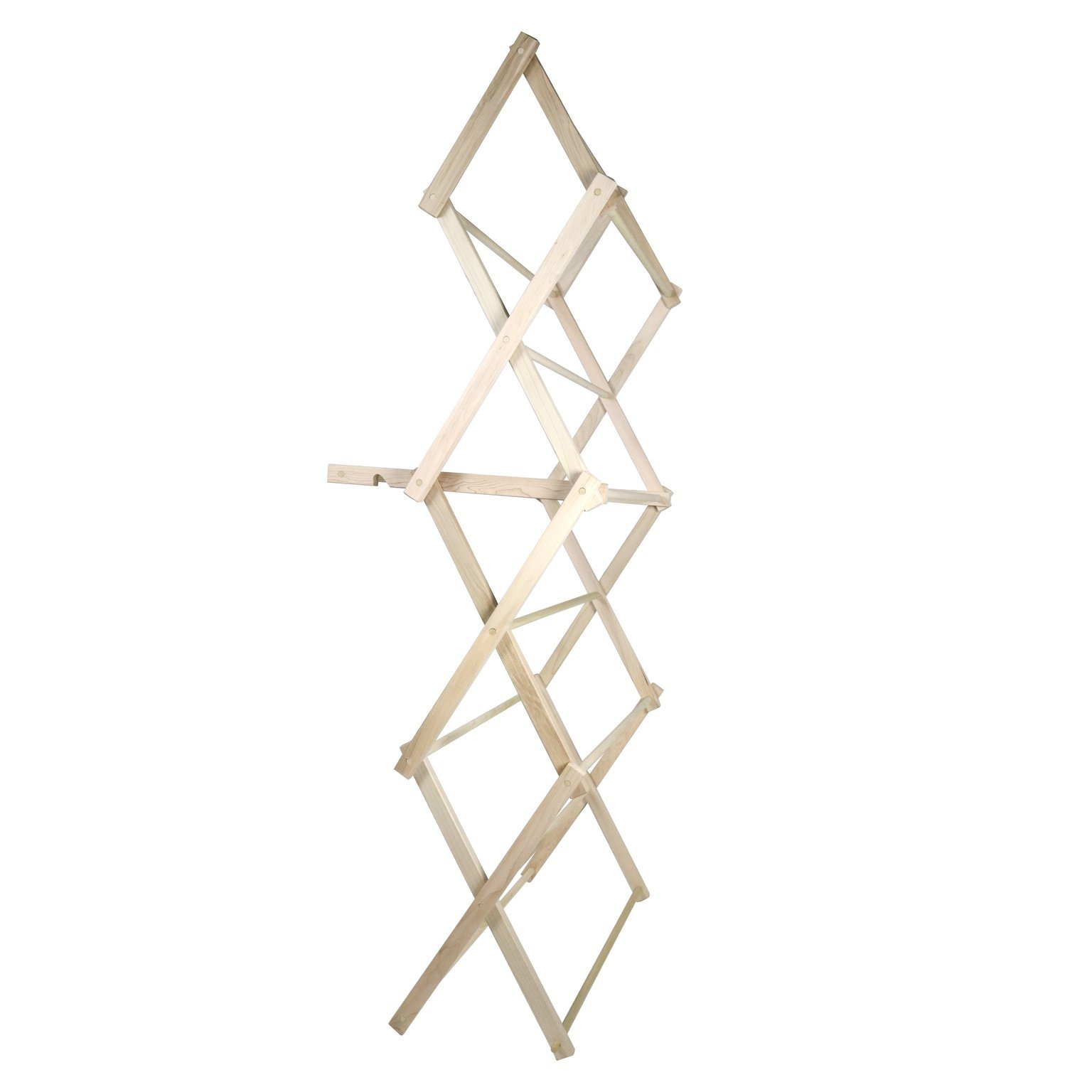 """LifeSong Milestones American Made Clothes Drying Rack Collapsible Folding Two Height Wooden Quilt Rack 36'' x 28'' x 7.5"""" 100% hardwood Made in the USA (36'')"""
