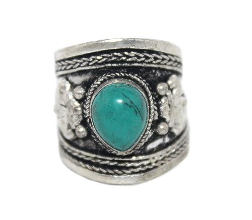 Anillo ajustable turquesa Anillo, anillo de plata, anillo de ...