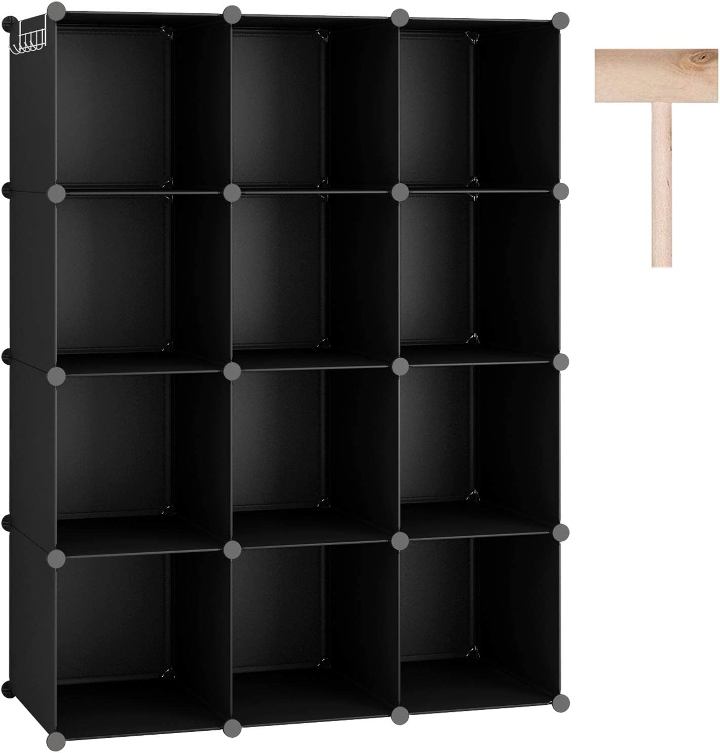 "C&AHOME Cube Storage Organizer, 10-Cube Shelves Units, Closet Cabinet, DIY  Plastic Modular Book Shelf, Ideal for Bedroom, Living Room, Office, 10.10"" L"