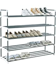 Knight 3,5 & 7 Tier Heavy Duty Metal Shoe Rack, Quick Assembly No Tools Required