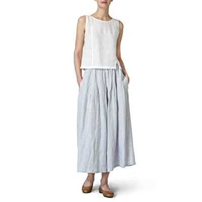Vivid Linen Pleated Culottes