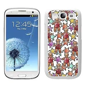 Funda carcasa TPU (Gel) para Samsung Galaxy S3 diseño estampado navideño muñeco galleta borde blanco